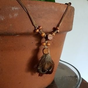 Vintage 70's Feather Necklace
